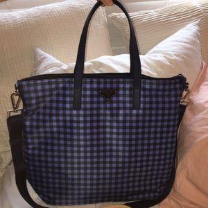 b70f41537d05 NWT Prada Gingham Tote bag